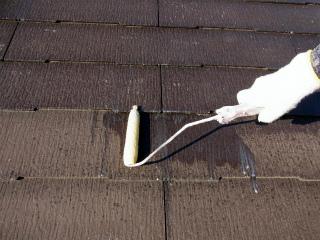 屋根主材塗り